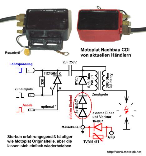 Зажигание мотоплат схема
